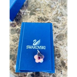 Swarovski pink crystal flower pendant